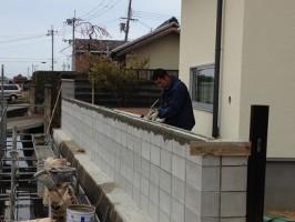 家の塀づくり